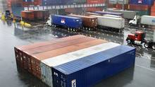 Containers waiting for shipment at the Port of Vancouver. (CHUCK STOODY/Chuck Stoody/ The Canadian Press)