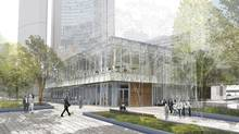 A long awaited makeover of Nathan Phillips Square will include a restaurant shown here in a view from Southwest. (PLANT Architect Inc. and Shore Tilbe Irwin & Partners)