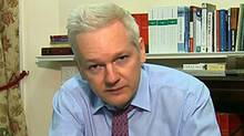 WikiLeaks founder Julian Assange accused U.S. President Barack Obama of exploiting the Arab uprisings for political purposes. Assange, who is hiding in an embassy in London, addressed a sideline meeting of the UN General Assembly via video conference. (AP)