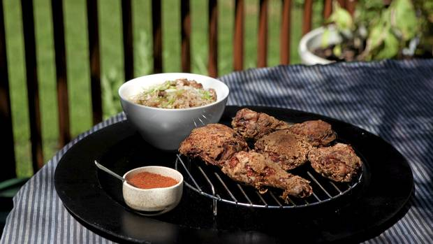 Fried Yardbird paired with dirty rice (Michelle Siu/The Globe and Mai)