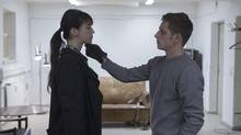 Charlotte Gainsbourg, the sexually avid heroine of Nymphomaniac withe the chilly Jamie Bell. (Mongrel Media/Christian Geisnaes)