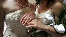 With the average Canadian wedding setting couples back $26,961, multiplied by the 21,015 same sex-marriages recorded by Statistics Canada as of 2011, the financial bonus for the $4-billion-a-year wedding industry could be huge. (ERIN SIEGAL/REUTERS)