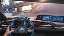Dashboard of the i concept car (BMW)