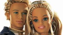 This photo released by Mattel Inc., 30 June, 2003, shows Barbie with her new boyfriend Blaine. Barbie broke up with her long time beau Ken in February, 2004. (-/AFP PHOTO/MATTEL INC.)