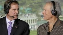 Jim Nantz and Clint Eastwood. Photo: Cliff Lipson/CBS (Cliff Lipson/CBS)