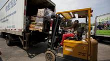Manufacturing sales across the country increased 0.4 per cent in March, Statistics Canada said, pumped up by food and machinery shipments. (Deborah Baic/The Globe and Mail)