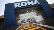 An exterior view of a hardware store Rona Inc., in Brossard, Que., on January 30, 2013. (Christinne Muschi For The Globe and Mail)