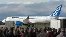 The real question of transparency arose following the test flight of Bombardier's C Series on Monday. (Ryan Remiorz/THE CANADIAN PRESS)
