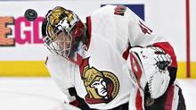 Ottawa Senators' Craig Anderson makes a save against the Edmonton Oilers on Sunday October 30, 2016. (JASON FRANSON/THE CANADIAN PRESS)