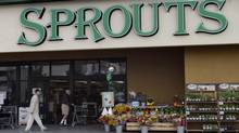 Shoppers enter a Sprouts Farmers Market in Los Angeles. Investors scrambled for a stake in the organic grocer when its stocks went public on Aug. 1. (JONATHAN ALCORN/REUTERS)