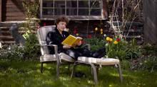 Eleanor Wachtel in her backyard (Moe Doiron/The Globe and Mail)