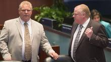 Doug and Rob Ford were asked in 2011 to get involved in Apollo's parking problems. (Chris Young For The Globe and Mail)