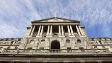 The Bank of England is seen against a blue sky in the City of London October 6, 2011. (SUZANNE PLUNKETT/REUTERS)