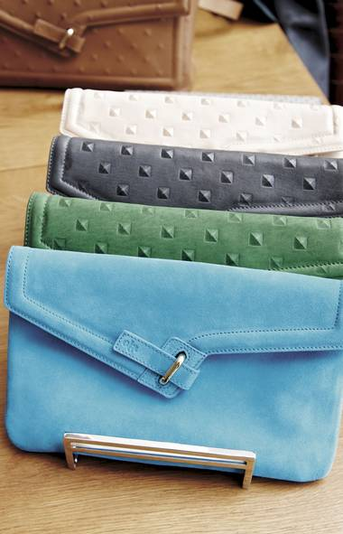 <p>The M.I.L.C.K. clutch, shown in a variety of hues, has become a signature of handbag label Ela.</p>
