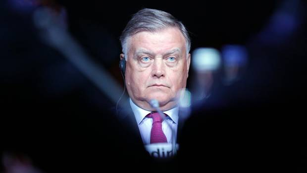 Vladimir Yakunin, chief executive officer of OAO Russian Railways, listens during a conference session on day two of the Saint Petersburg International Economic Forum 2012 (SPIEF) in Saint Petersburg, Russia, on Friday, June 22, 2012.
