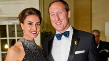 Nazanin Afshin-Jam and her husband Peter MacKay, Minister of National Defence, at the 2012 Garrison Ball in Toronto. (JJ Thompson For The Globe and Mail)