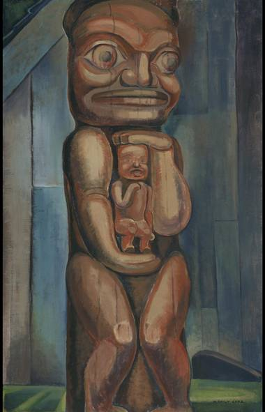 Emily Carr, Totem Mother, Kitwancool, 1928, oil on canvas, Collection of the Vancouver Art Gallery, Emily Carr Trust, VAG 42.3.20 (Trevor Mills/Vancouver Art Gallery)