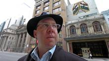 Aubrey Dan, President of Dancap Productions poses for a portrait, with his trademark hat, outside the Elgin Theatre in Toronto, (Deborah Baic/The Globe and Mail/Deborah Baic/The Globe and Mail)