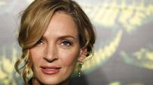 Actress Uma Thurman arrives at a party to celebrate the upcoming launch of the Versace for H&M collection in New York November 8, 2011. (LUCAS JACKSON/REUTERS)