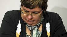 Theresa Spence, Chief of the Attawapiskat First Nation, speaks to reporters during an Ottawa news conference on Dec. 6, 2011. (Sean Kilpatrick/Sean Kilpatrick/The Canadian Press)
