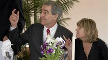 Liberal Leader Michael Ignatieff and his wife Zsuzsanna Zsohar attend a Passover seder in Winnipeg on April 18, 2011. (Jonathan Hayward/The Canadian Press/Jonathan Hayward/The Canadian Press)