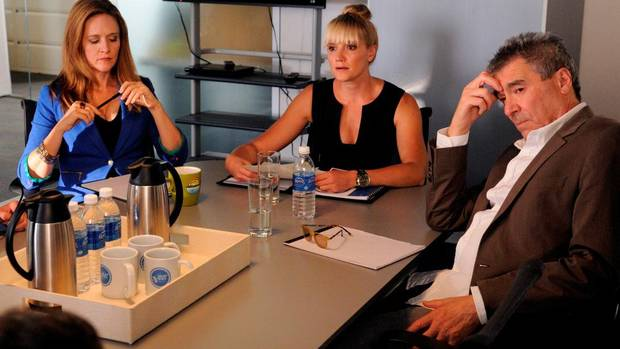 Samantha Bee, Stephanie Anne Mills and Ken Finkleman star in Good God.