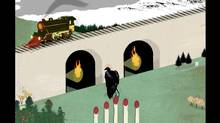 MichaelsNewToy - 14th July 2012 Illustration for The Globe and mail by Neal Cresswell David Woodside (Neal Cresswell)