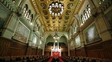 The Senate Chamber on Parliament Hill in Ottawa. (CHRIS WATTIE/REUTERS)