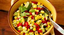 Grilled-corn and tomatillo salad (Photo: Jim Norton; Styling: Heather Shaw/Judy Inc.)