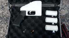 The Liberator, a 3-D printed hand gun, the plans for which were distributed free online (Defense Distributed/defdist.org)