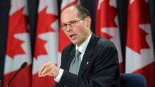United Nations Special Rapporteur on the Right to Food Olivier De Schutter speaks to reporters during a press conference at the National Press Theatre in Ottawa on Wednesday, May 16, 2012. (Sean Kilpatrick/THE CANADIAN PRESS/Sean Kilpatrick/THE CANADIAN PRESS)
