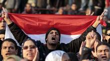 Demonstrators take part in a protest against the Egyptian military council at Tahrir square in Cairo January 20, 2012. (MOHAMED ABD EL GHANY/REUTERS/MOHAMED ABD EL GHANY/REUTERS)