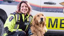 Tracy Levesque is a paramedic in Ottawa and the owner and handler of Max, a therapy dog that helps with PTSD. (Seema Marwaha)
