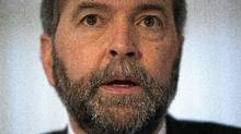 NDP deputy leader Thomas Mulcair speaks at a news conference in Vancouver on Wednesday. (Rafal Gerszak for The Globe and Mail)