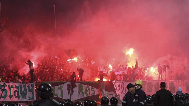 Chaos erupts at a soccer stadium in Port Said city, Egypt. At least 73 people were killed and 1,000 injured as groups of fans attacked each other.