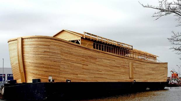 A general view of the Noah's Ark replica as it was being built in March 31, 2006. The ark was built by Johan Huibers as a testament to his faith in the bible. His ark is constructed with American cedar and Norwegian pine. REUTERS/Toussaint Kluiters (TOUSSAINT KLUITERS/REUTERS)