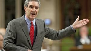 Liberal Leader Michael Ignatieff speaks during Question Period in the House of Commons on May 26, 2010.