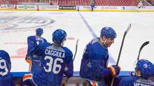 The Oilers said in a release that adding a mascot will help the team strengthen ties in the Edmonton community. (AMBER BRACKEN/THE CANADIAN PRESS)