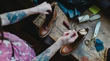 FEET FIRST In their Vancouver workshop, the Love Jules team carefully crafts their limited-edition boots. (Darby Magill)