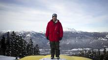 Trennon Paynter, coach of the Canadian halfpipe ski team, during training in Whistler, B.C. (BEN NELMS For The Globe and Mail)