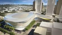 Renderings of the proposed Edmonton arena (TGAM)