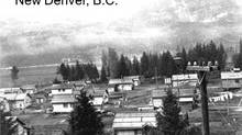 An early photo of the New Denver camp, which housed 1505 Japanese Canadians. (Public Archives of Canada, JCCC Archives)