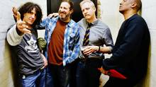 Spin Doctors. From left to right is Eric Schenkman, Aaron Comess, Chris Barron and Mark White.