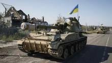 NATO exercises will begin on Sept. 16 at the Yavoriv training centre, near the western Ukrainian city of Lviv. (Gleb Garanich/Reuters)