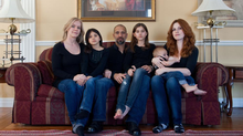 Sarah, Ayla, Nekky, Hannah and Noah Jamal and Catherine Skinner, Sunday, March 2, 2014. (Galit Rodan/The Globe and Mail)