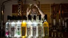 Peter Kimmerly, owner of Island Spirits Distillery on Hornby Island, wants laws regulating liquor sales updated. (John Lehmann/The Globe and Mail)