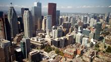 Aerial view of downtown Toronto, September 5, 2012 (Galit Rodan/The Globe and Mail)