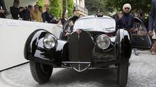 1938 Bugatti 57SC Atlantic Coupe owned by Ralph Lauren at 2013 Villa d'Est Concorso d'Eleganza. (BMW)