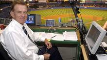 Baseball announcer Tim McCarver poses in the press box. (AP Photo/Kathy Willens) (KATHY WILLENS)