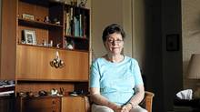 The provincial government covers the more than $1,600-a-month cost for Jan Ross's eye treatment: 'I'd be happier if a cheaper one could be used.' (Della Rollins/DELLA ROLLINS FOR THE GLOBE AND MAIL)